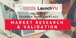 Founder Fundamentals: Market Research & Validation @ Online (Zoom)