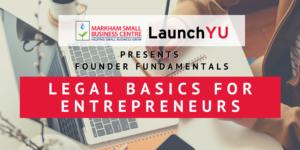 Founder Fundamentals: Legal Basics for Entrepreneurs @ Online (Zoom)